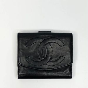 SOLD - Vintage Chanel Lambskin Wallet w/ Card